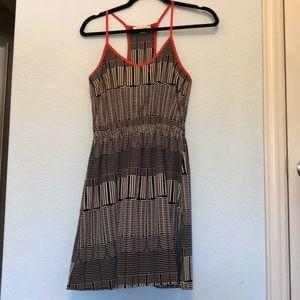 Nordstrom Lush Black, White, red dress